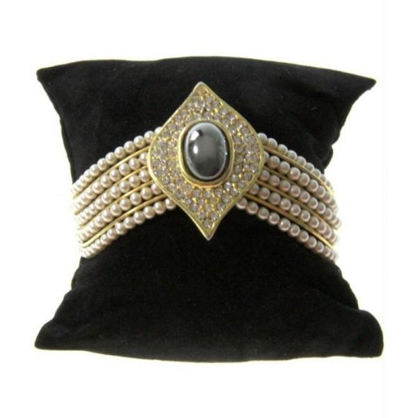 Porte bijoux coussin montre et bracelet en velours 8 x 8 cm - Photo n°1