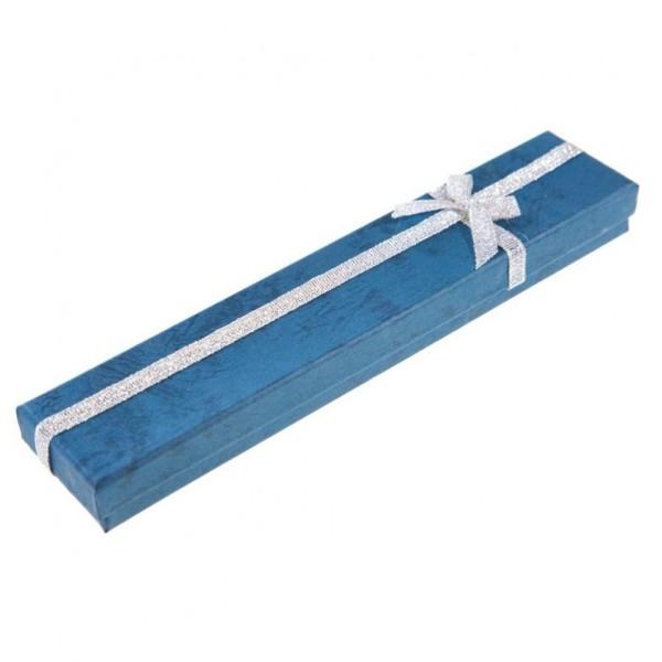 Ecrins bijoux 4x21 pour bracelets (12 pièces) Bleu - Photo n°1