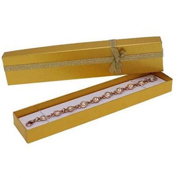 Ecrins bijoux 4x21 pour bracelets (12 pièces) Doré - Photo n°1