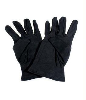Outils et nettoyants paire de gants bijouterie 100% coton noirs