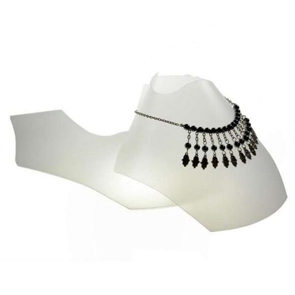 Porte bijoux bustes colliers pliants 10 cm (10 pièces) Translucide - Photo n°1