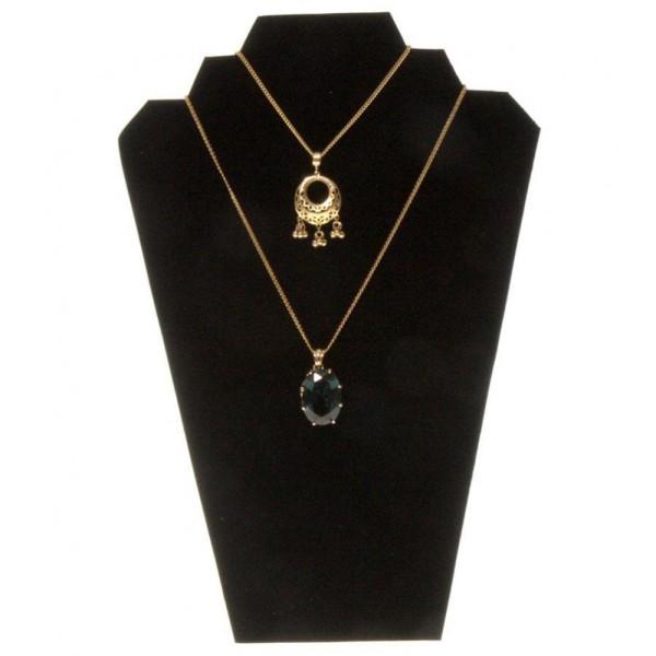 Porte Bijoux Presentoir Collier Plaque pour Stand h 28 cm 8 Colliers Noir