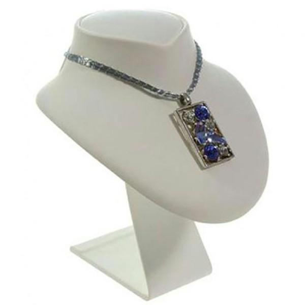 Porte bijoux buste porte collier en simili cuir 18 cm