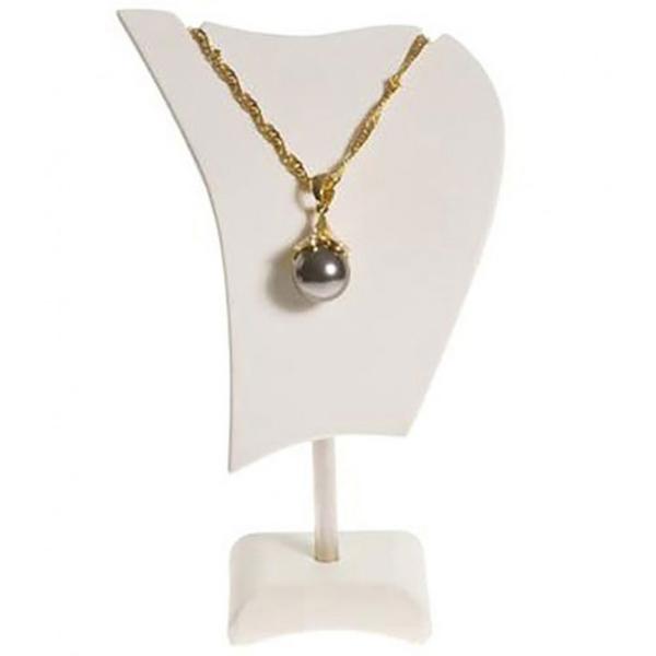 8ffdc8fb7b6 Porte bijoux buste presentoir collier réglable 16 cm Ivoire - Photo n°1