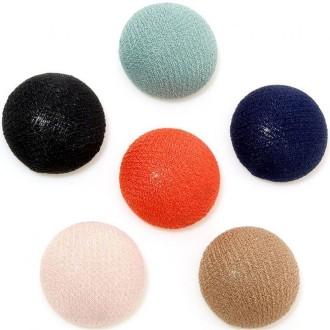 accessoires cr ation bouton tissu carreaux coller grand forme ronde 5 pi ces cabochon. Black Bedroom Furniture Sets. Home Design Ideas