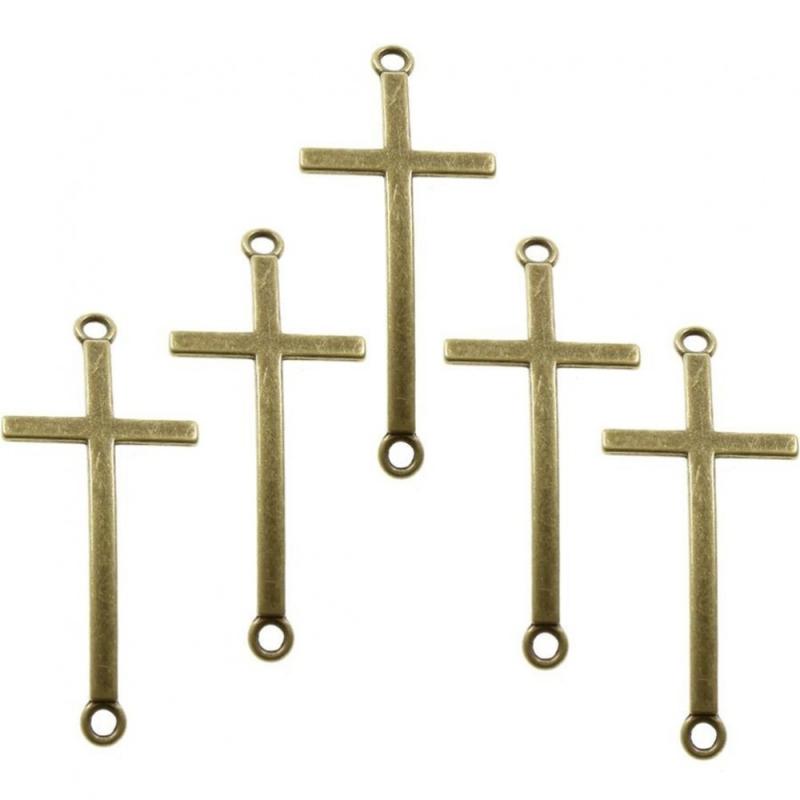 Accessoires cr ation connecteurs bracelets croix 5 pi ces for Accessoires cuisine originaux