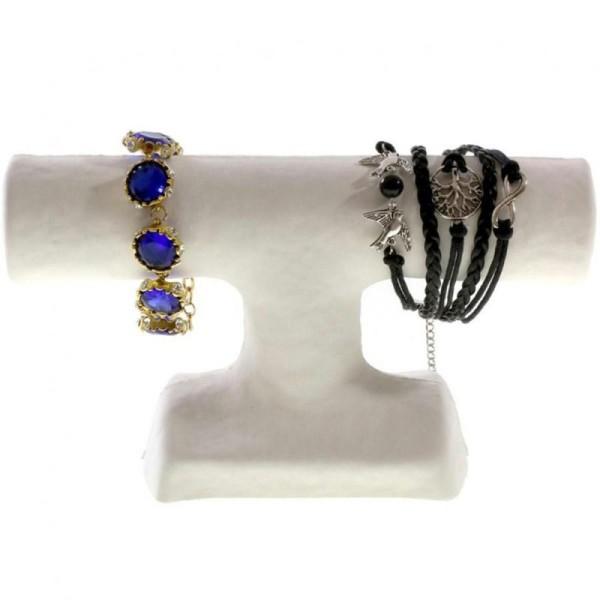 Porte bijoux support bracelet 1 jonc en papier mâché Blanc - Photo n°2