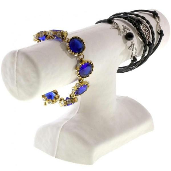Porte bijoux support bracelet 1 jonc en papier mâché Blanc - Photo n°1