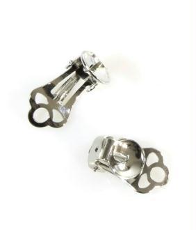 Accessoires création clip d'oreille support fimo 15 x 9 mm (2 pièces)