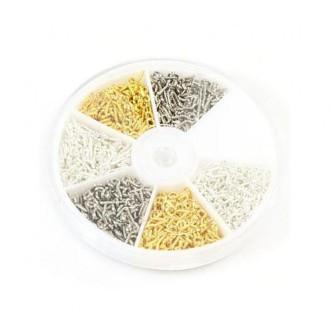 Accessoires création boite de pitons pour fimo 10 x 4 mm (700 pièces) Multicolore