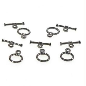 Accessoires création fermoir t toggle matelot pour bijoux 9 mm (10 pièces) Anthracite