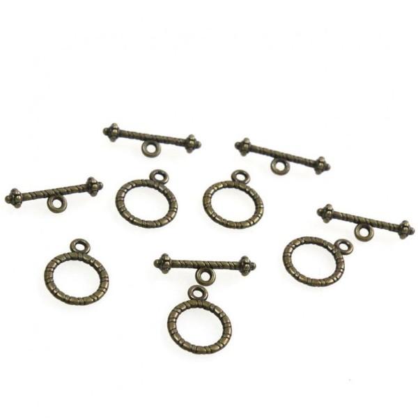 Accessoires création fermoir t toggle sceau 13 mm (10 pièces) Bronze - Photo n°1