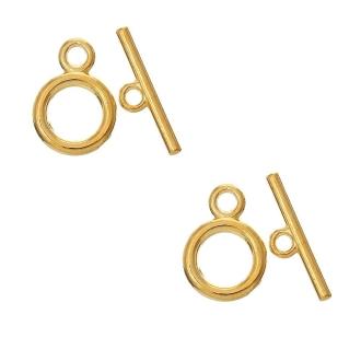 Accessoires création fermoir t toggle fin pour bijoux 15 mm 10 pièces Doré