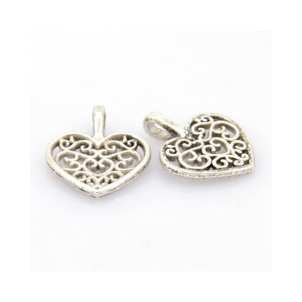 Lot 10 perle intercalaire Aile d/'ange argenté 20mm x 9mm création bijoux collier