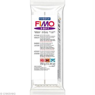 Pâte Fimo soft Blanc 0 - 350 gr