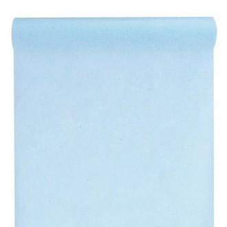 Chemin de table intissé bleu ciel X 10 mètres