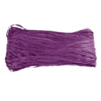 Raphia naturel teinté violet