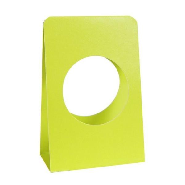 Marque place porte boule plexi 5cm vert anis x6 - Photo n°1