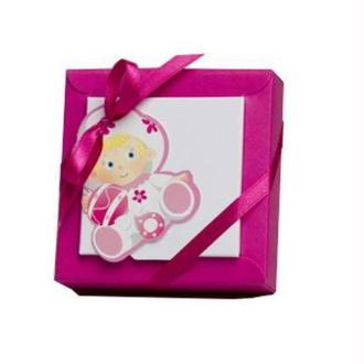 Boite à dragées Bébé rose x2