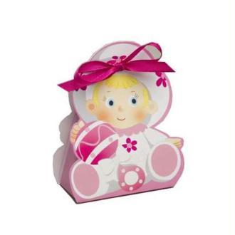 Ballotin dragées Bébé rose X10
