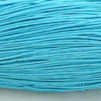 Fil coton ciré Turquoise  1mm par 10 mètres