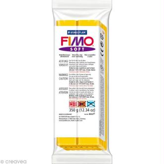 Fimo soft Jaune Soleil 16 - 350 gr