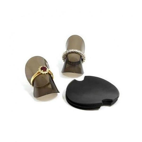 Porte bijoux présentoirs rondelles souples pour bagues noirs (30 pièces) Noir - Photo n°1