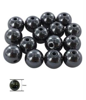 Perles hématite synthétique pour bracelet shamballa 14 mm