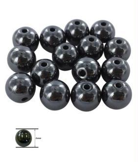 Perles hématite synthétique pour bracelet shamballa 6 mm