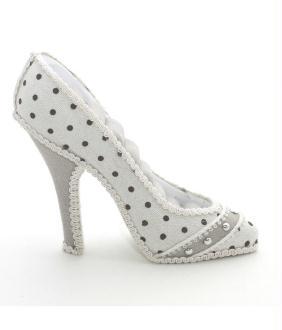Porte bijoux bagues chaussure escarpin à pois - Présentoirs pour bijoux