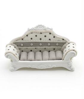Porte bijoux bagues canapé sofa à pois - Présentoirs pour bijoux