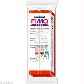 Pâte Fimo soft Rouge Indien 24 - 350 gr