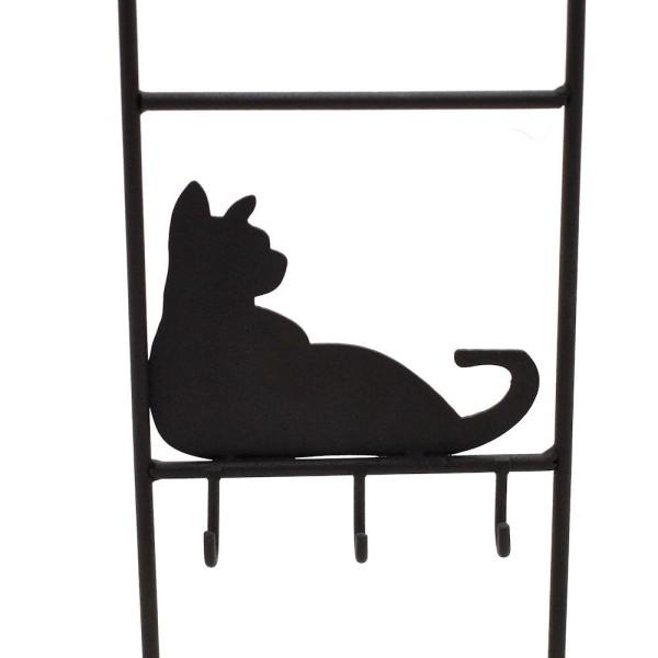 Présentoir porte bijoux chats métal et bois bracelets colliers boucles Noir - Photo n°2