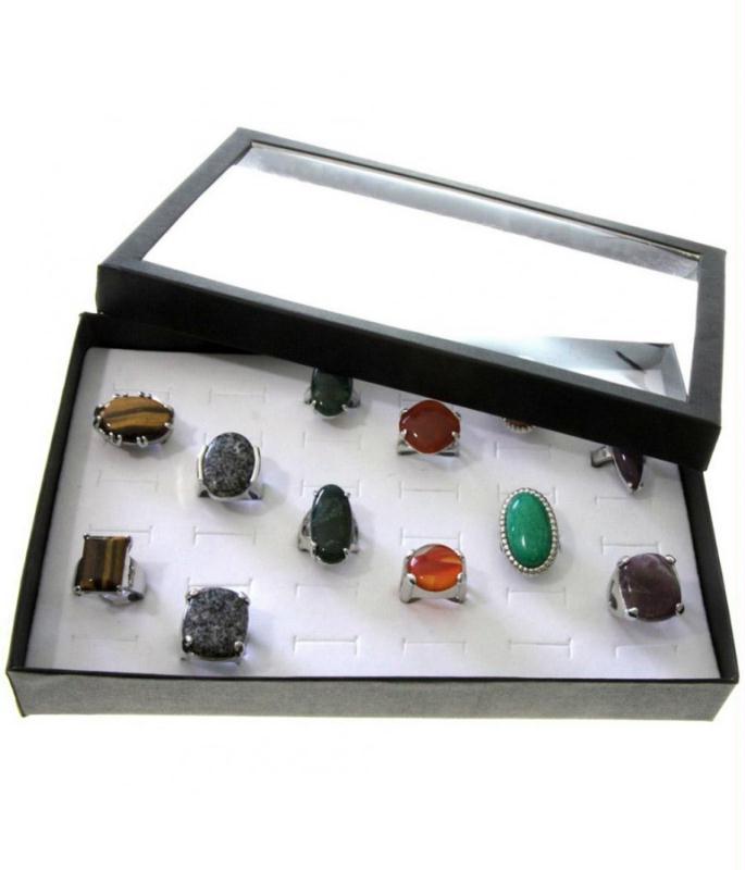 porte bijoux boite bague plateau carton avec couvercle. Black Bedroom Furniture Sets. Home Design Ideas