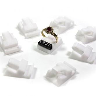 Lot 10 supports prix plots pour bagues blanc marque Présentoirs pour bijoux Blanc