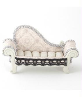Porte bijoux bagues canapé sofa dentelle - Présentoirs pour bijoux