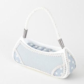Présentoir porte bagues sac à main tissu bleu marque Présentoirs pour bijoux Bleu