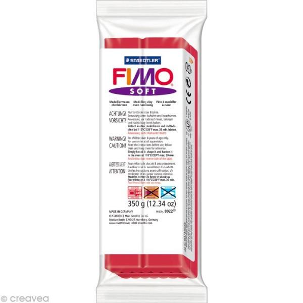 Pâte Fimo soft Rouge cerise 26 - 350 gr - Photo n°1