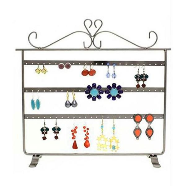 Porte bijoux cadre présentoir boucle d'oreille window (32 paires) - Photo n°1