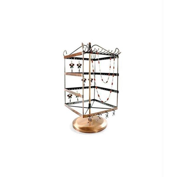 Porte bijoux tourniquet boucle d'oreille et collier (78 paires) - Photo n°1