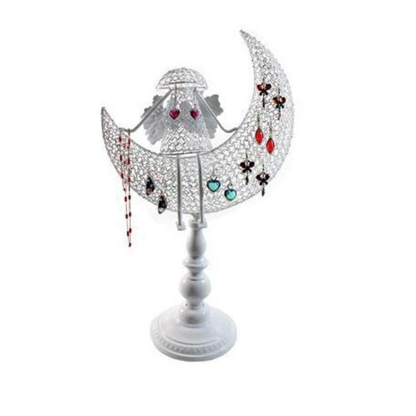 Porte bijoux porte bijoux ange décoratif pour boucle d'oreille et chaines Blanc - Photo n°1