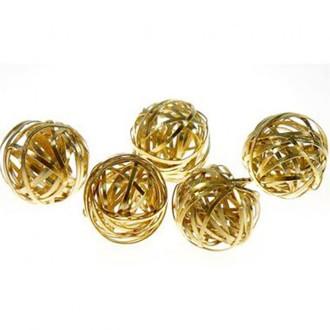 Perles rondes 20mm fabrication bijoux (1 pièces) Doré
