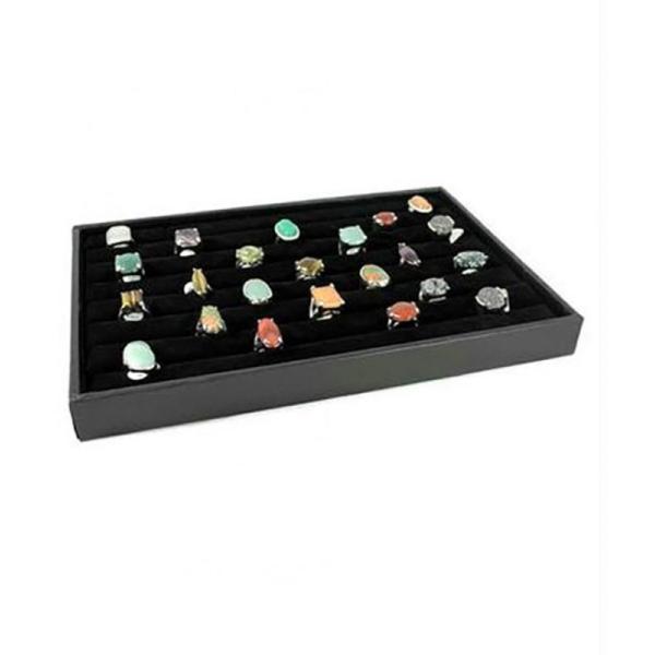 Porte bijoux porte bague plateau bijoux en velours - Photo n°1