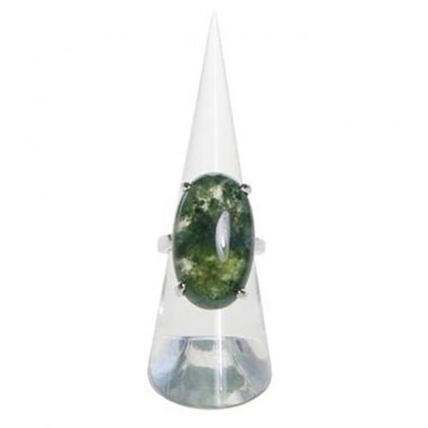 Porte bijoux presentoir bague plot cône en acrylique transparent x 1 pièce - Photo n°2