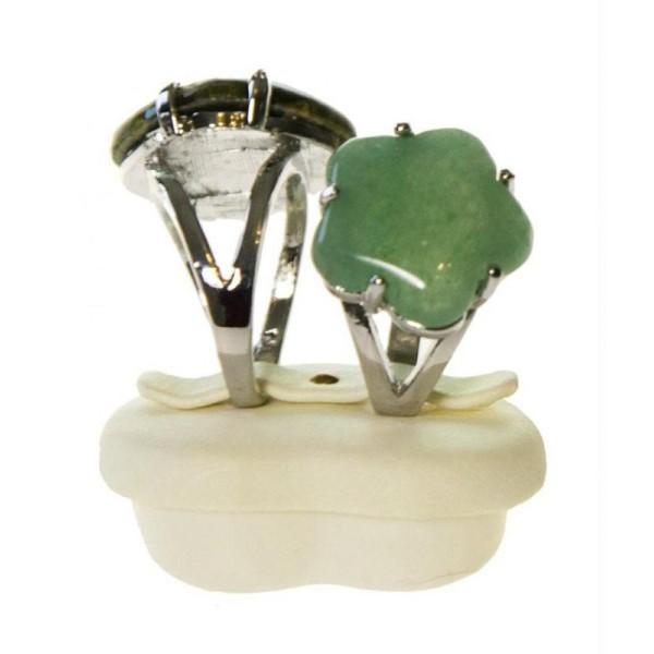 Porte bijoux mini presentoir bague alliance c 1/2 ur simili cuir (2 bagues) - Photo n°2