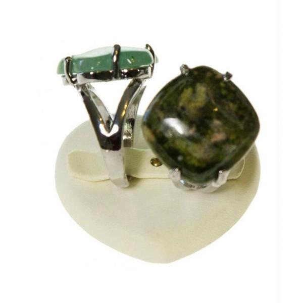 Porte bijoux mini presentoir bague alliance c 1/2 ur simili cuir (2 bagues) - Photo n°1