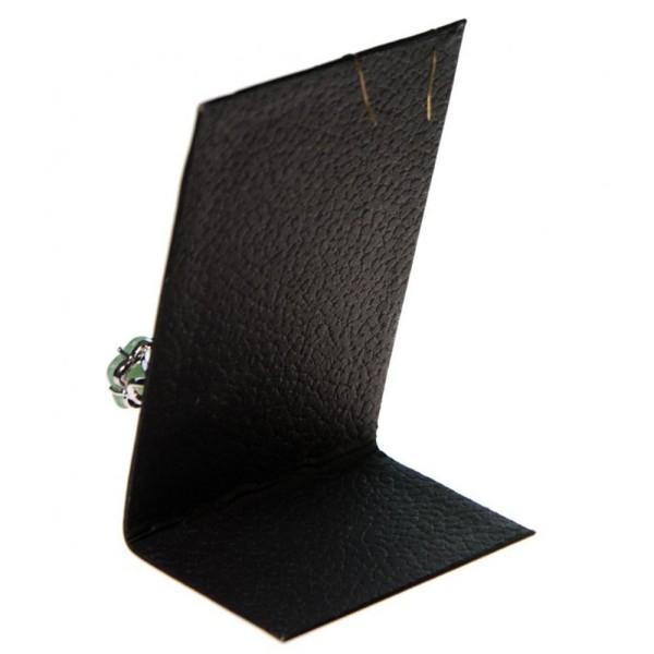 Porte bijoux mini support bijoux presentoir pour parure simili cuir 13 cm Noir - Photo n°2