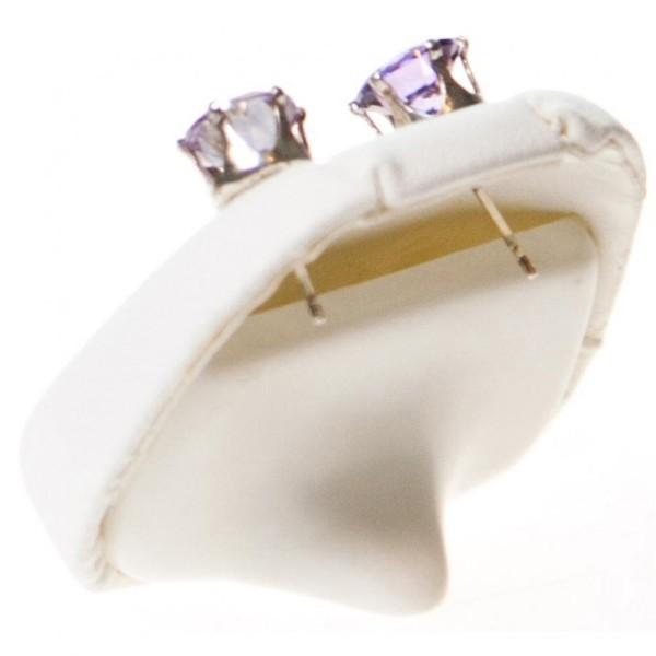 Porte bijoux mini support boucles d'oreilles simili cuir (1 paire) h 5,5 cm Blanc - Photo n°2