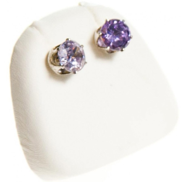 Porte bijoux mini support boucles d'oreilles simili cuir (1 paire) h 5,5 cm Blanc - Photo n°1