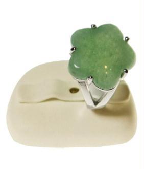 Porte bijoux mini presentoir alliance ovale en simili cuir (2 bagues)